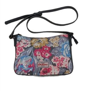Cath Kidston Floral Canvas Leather Strap Purse